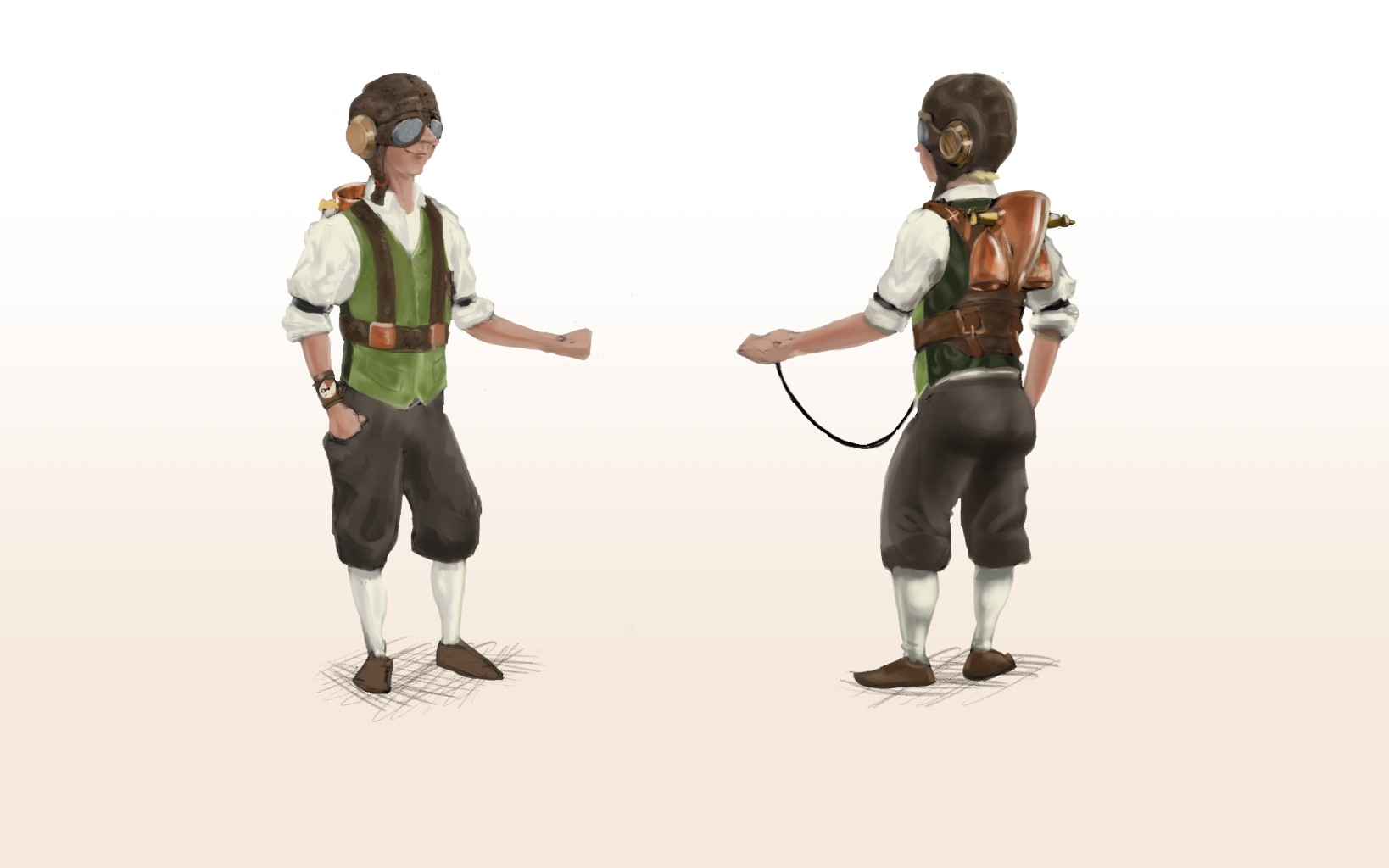 Renders of Front and Rear of Character