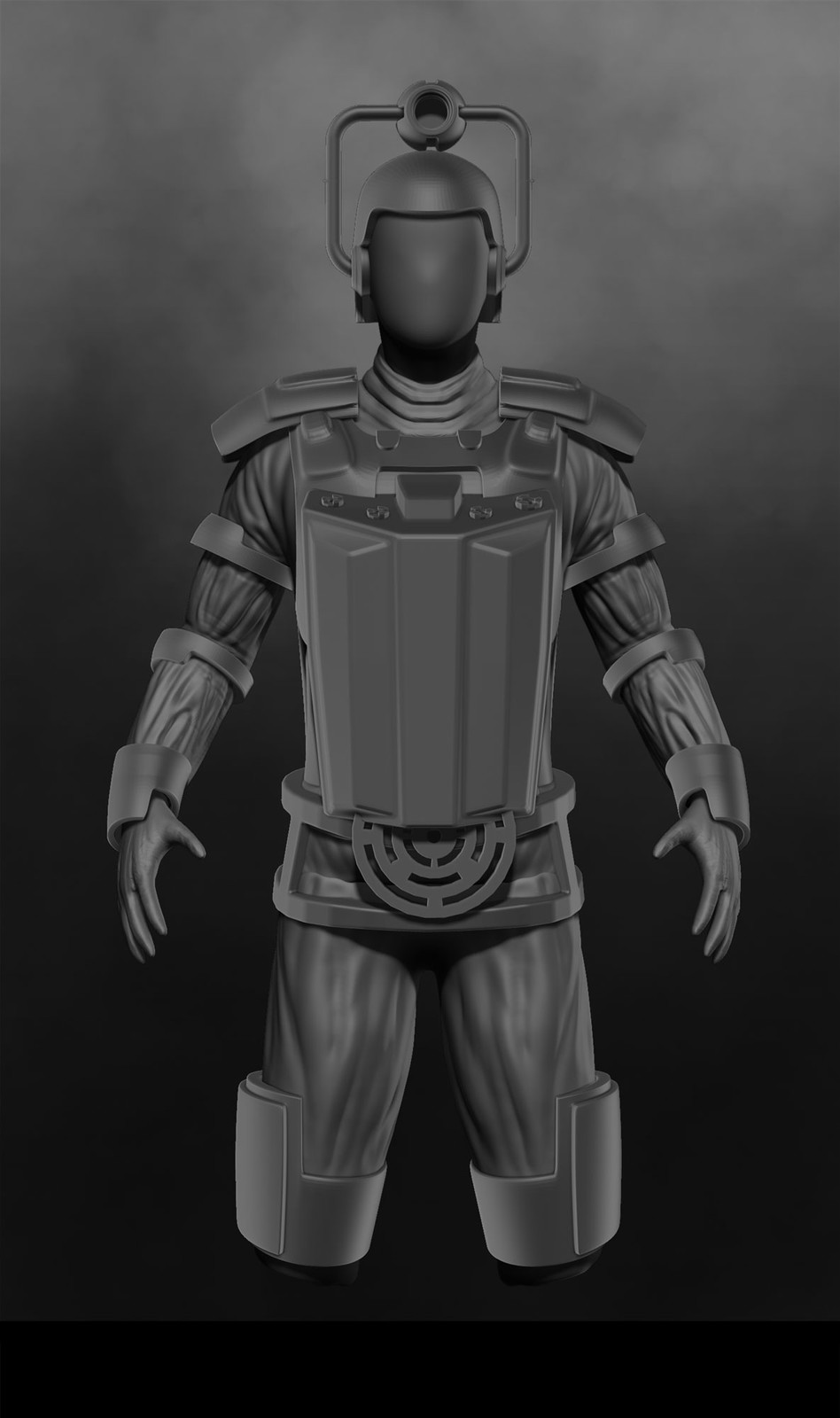 Basic 3D mesh used as painting guide.