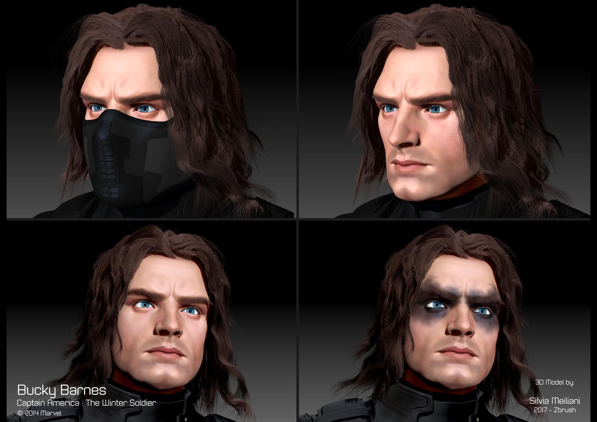Silvia Meiliani - Winter Soldier 3D Fanart
