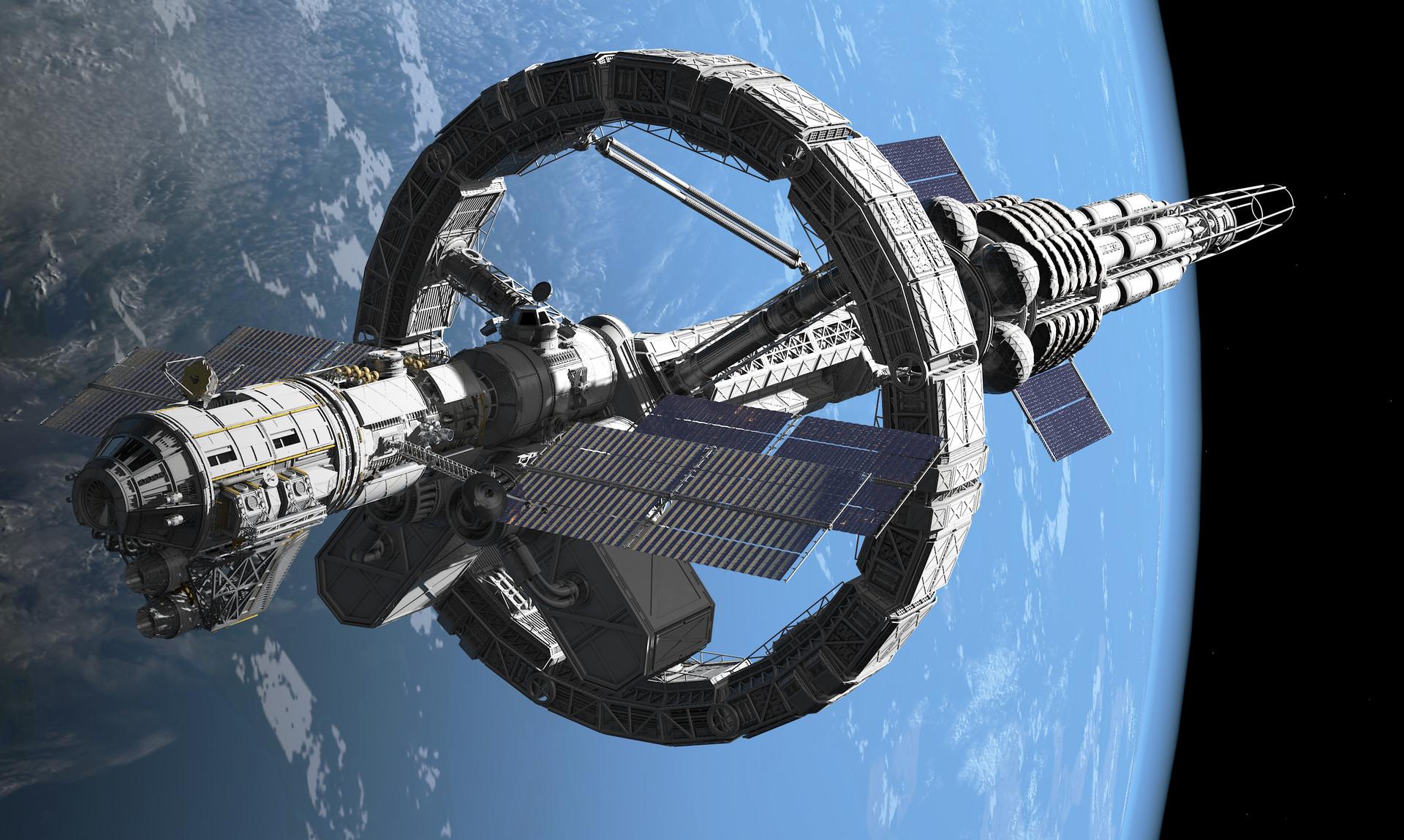 Felix Barthel Interstellar Spaceship