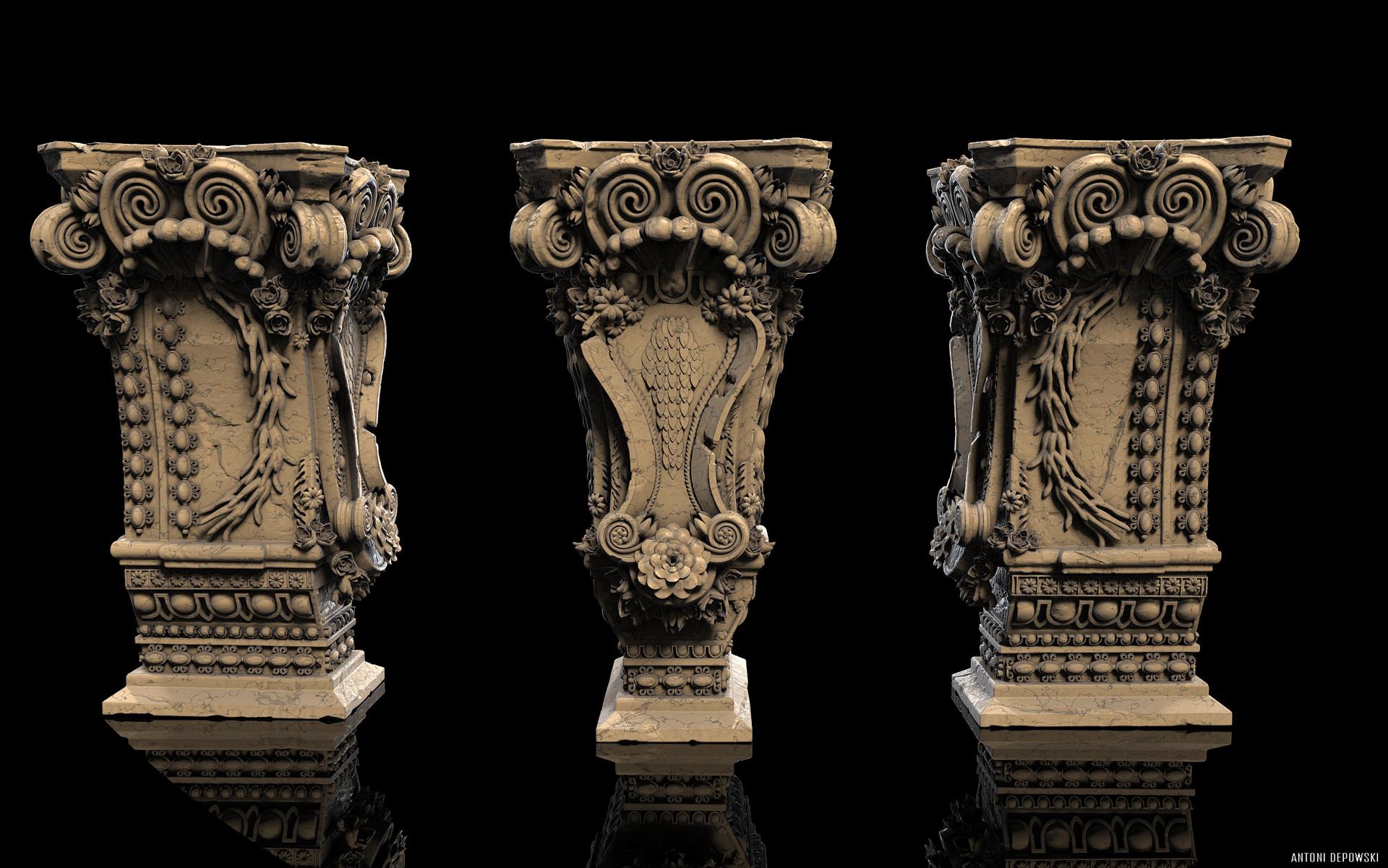 Antoni depowski baroque pedestal