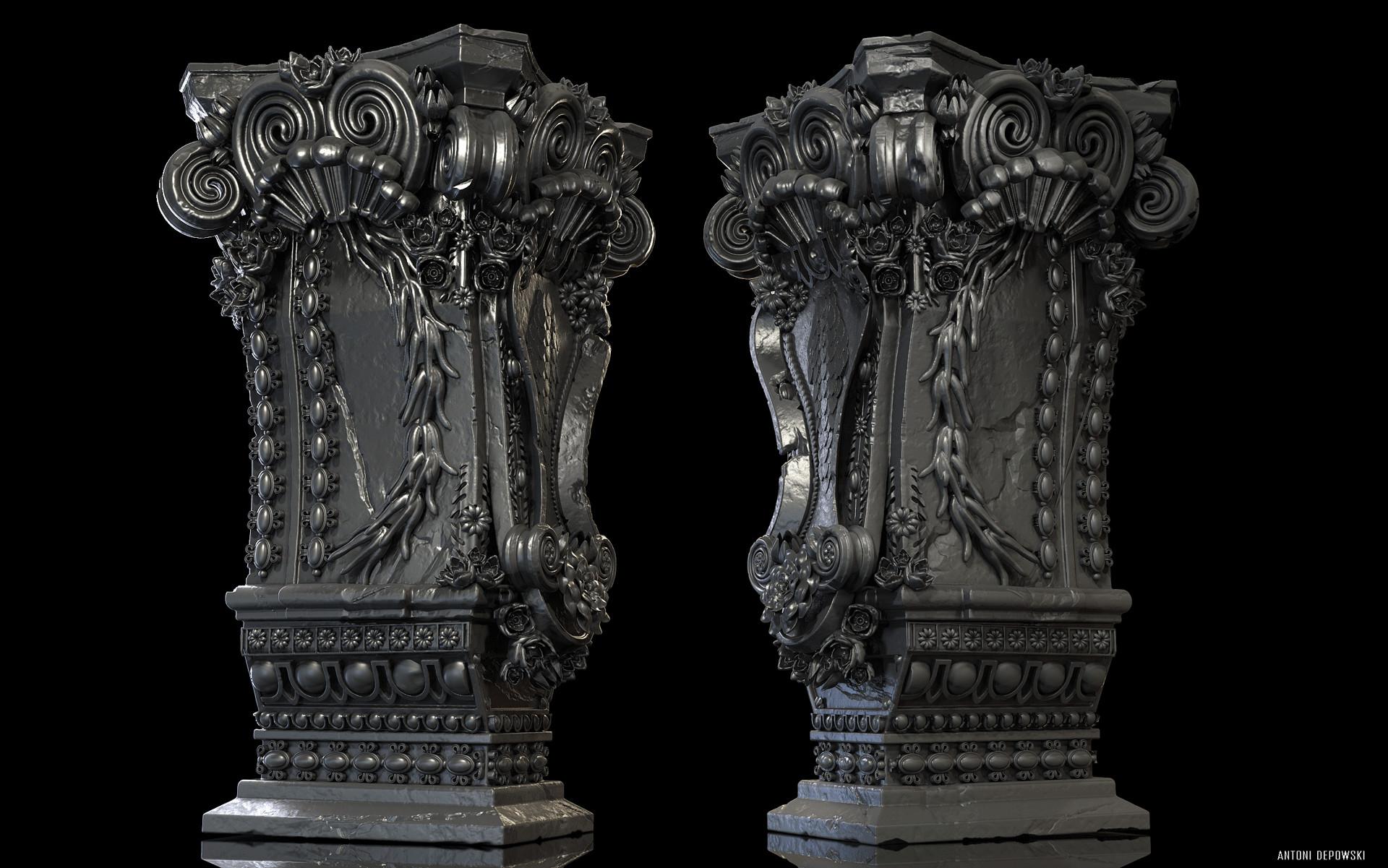 Antoni depowski baroque pedestal 3