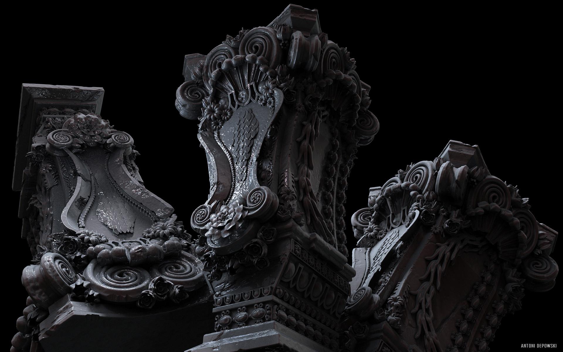 Antoni depowski baroque pedestal 5