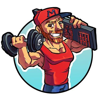 Mustafa ozkan muscle logo