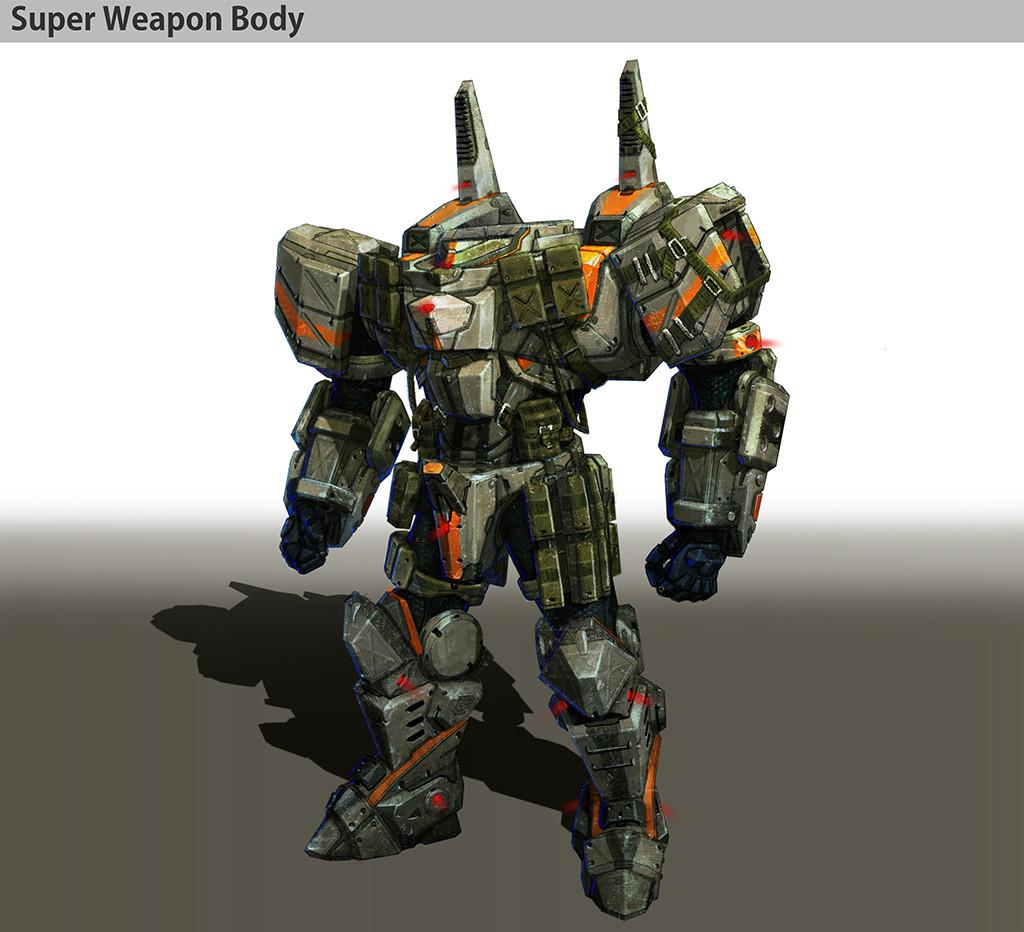 R o iaki superweapon body detail 3