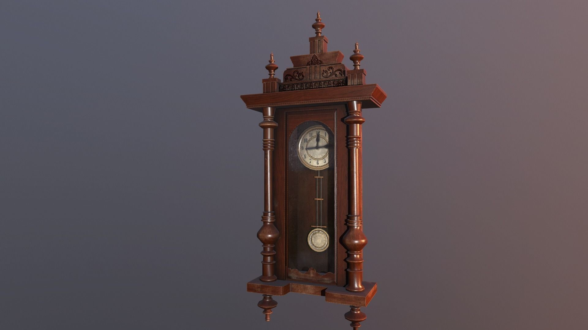 Morgan grandjean clock lowpoly vr 3d model low poly obj