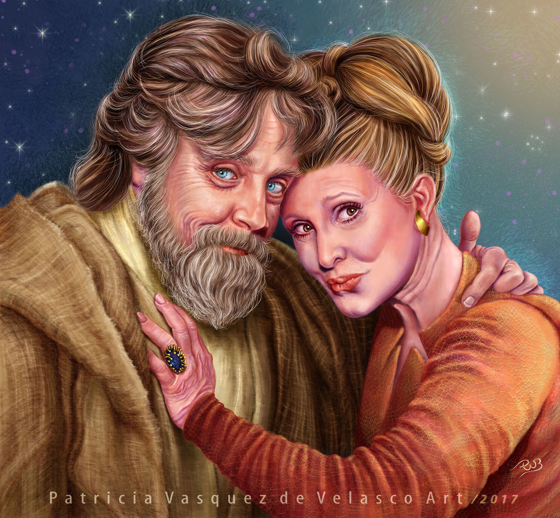 Patricia vasquez de velasco old luke y leia art