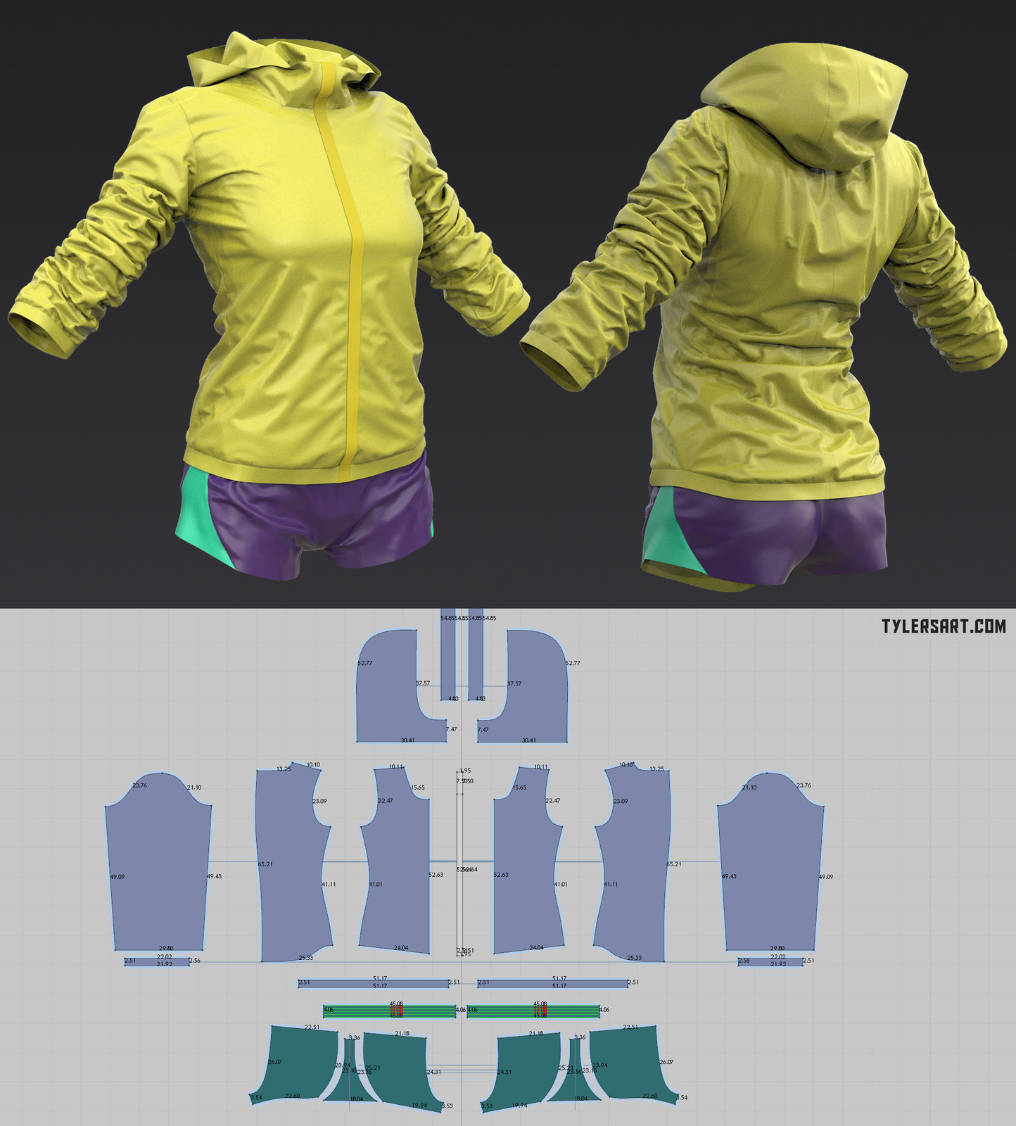 Outfit for a fast running zombie.