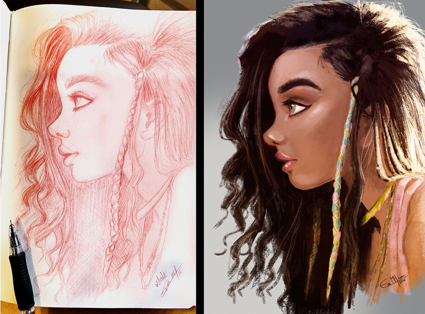Ashley Moore portrait practice and speed painting