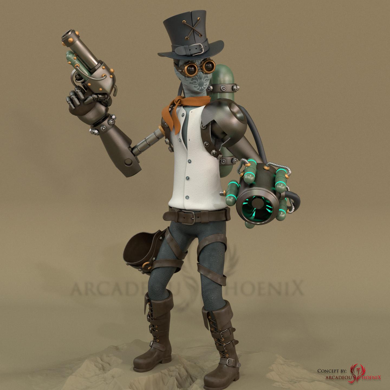 Arcadeous phoenix steampunk char 3