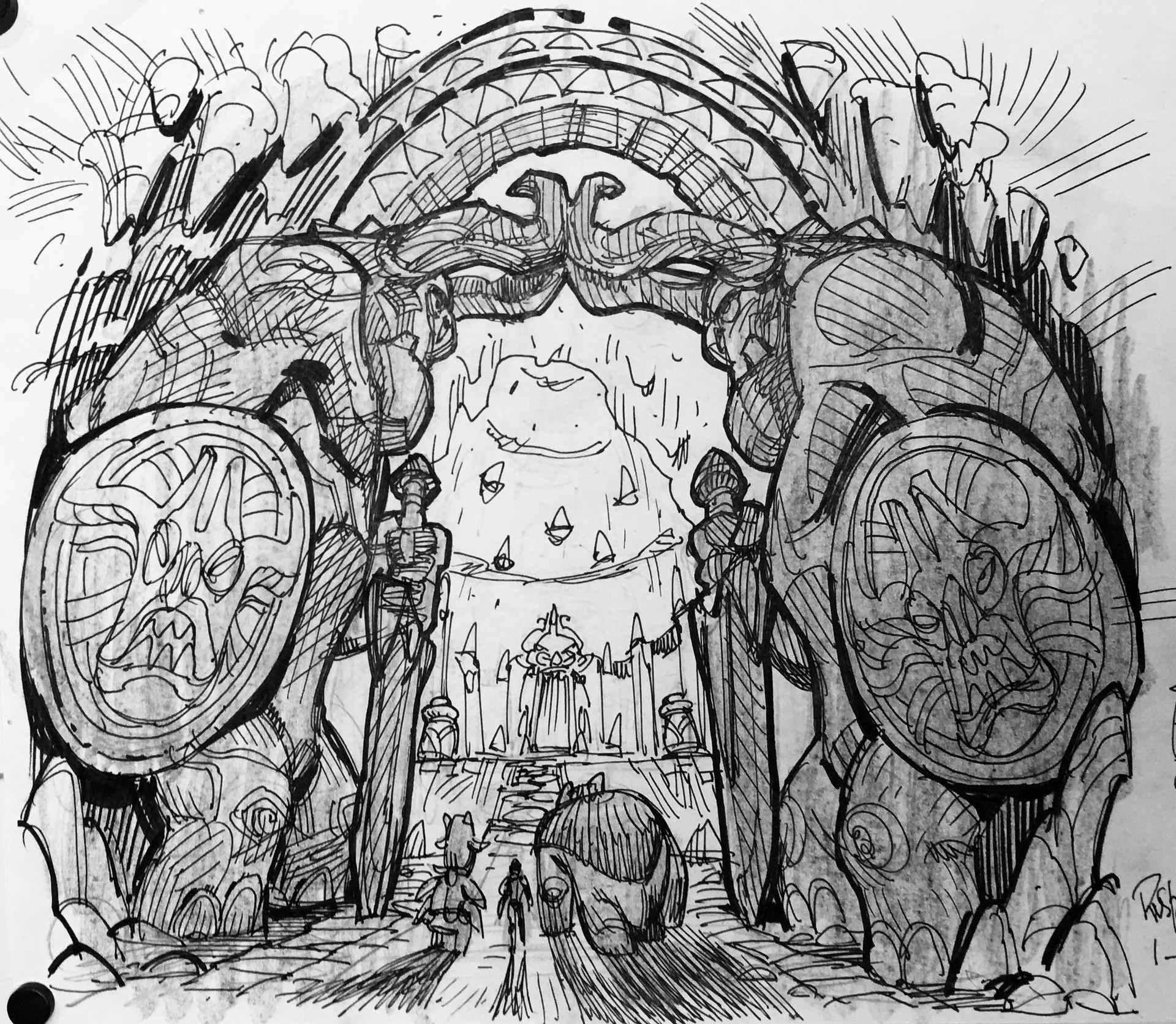 Trollhunters production sketches, Hero's Forge