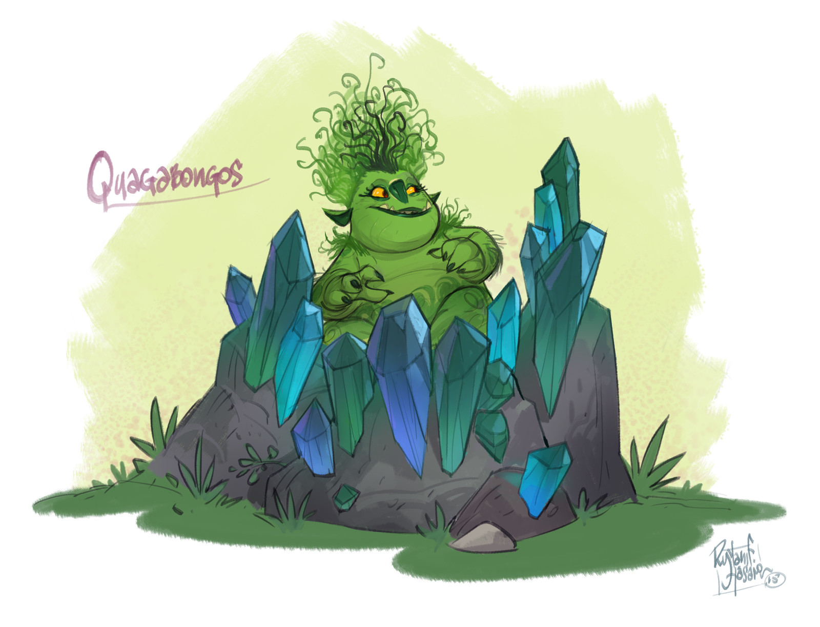 Trollhunters Production Sketches, Quagawamps' Swamp