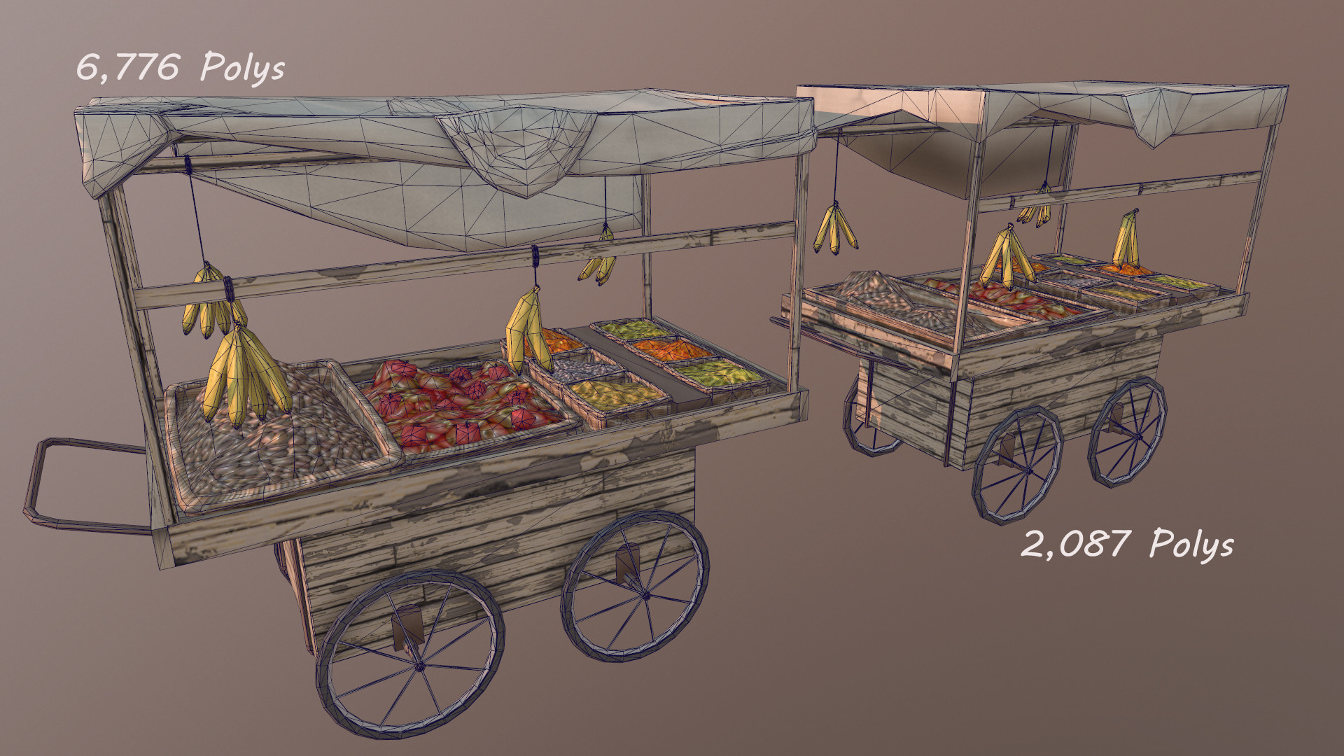 Blair scott fruitcart polycount