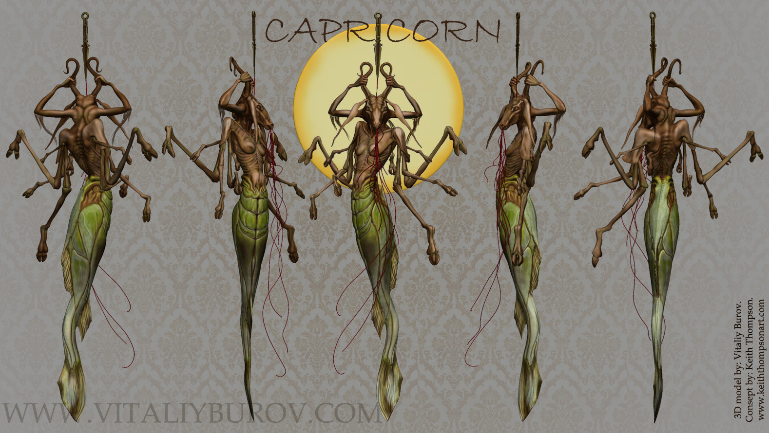 CAPRICORN - Color - Zbrush/Keshot