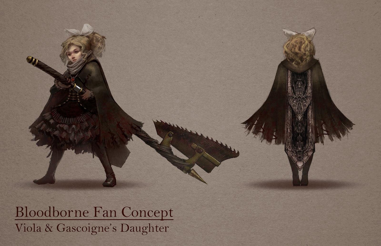 Bloodborne Fan Concept: Viola & Gascoigne's Daughter