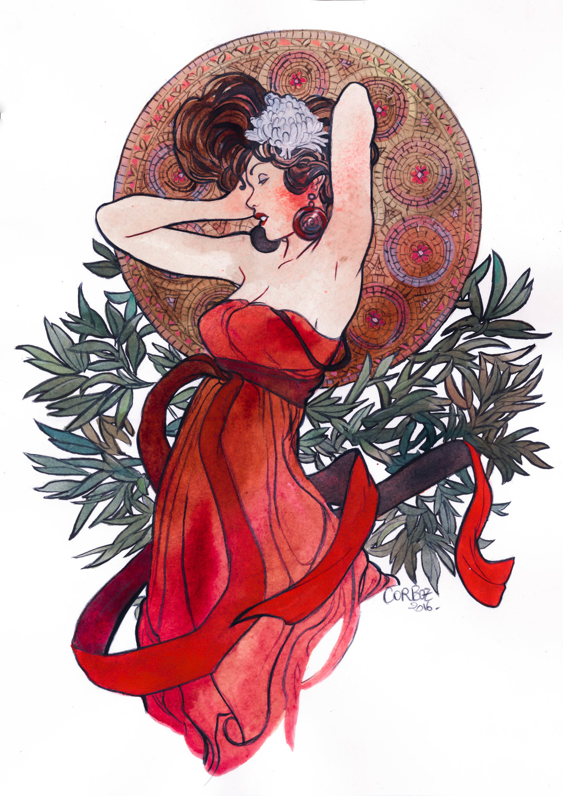 Mucha pinup girls