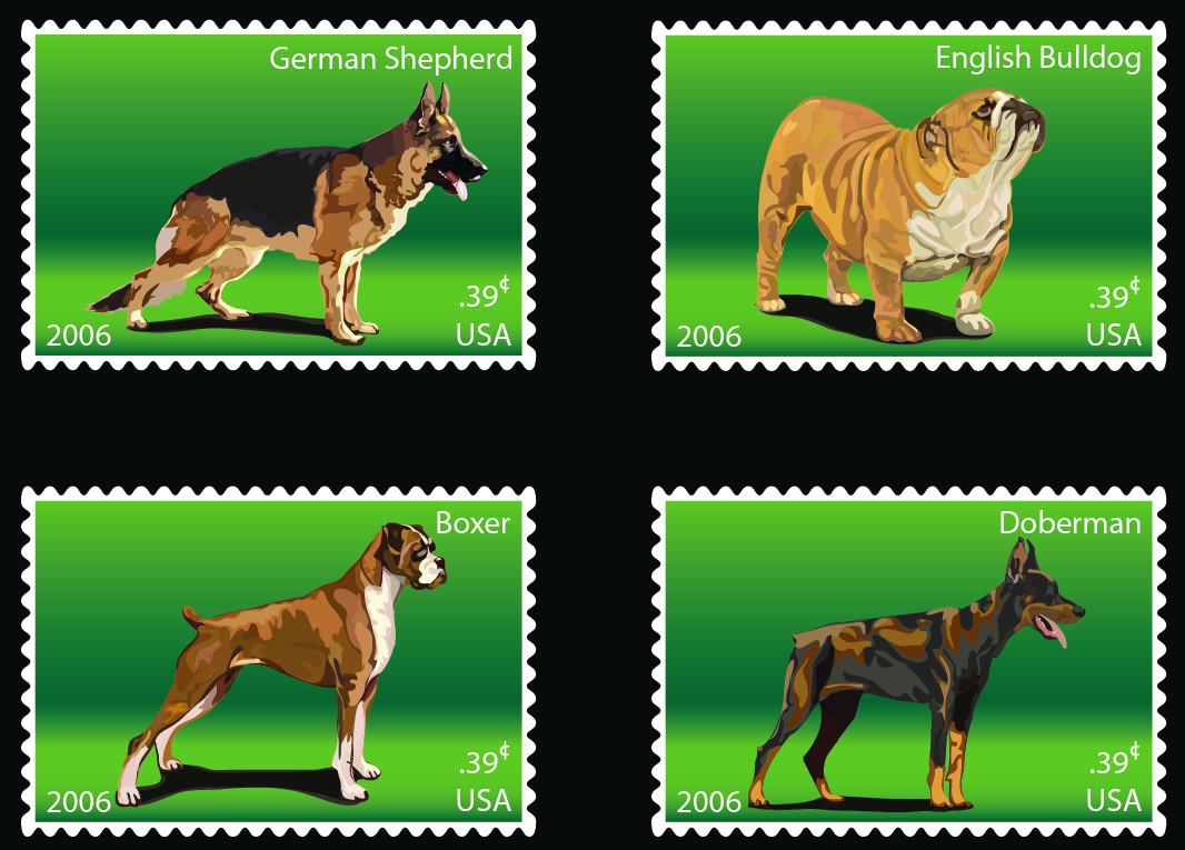 USPS Stamps - Illustrator