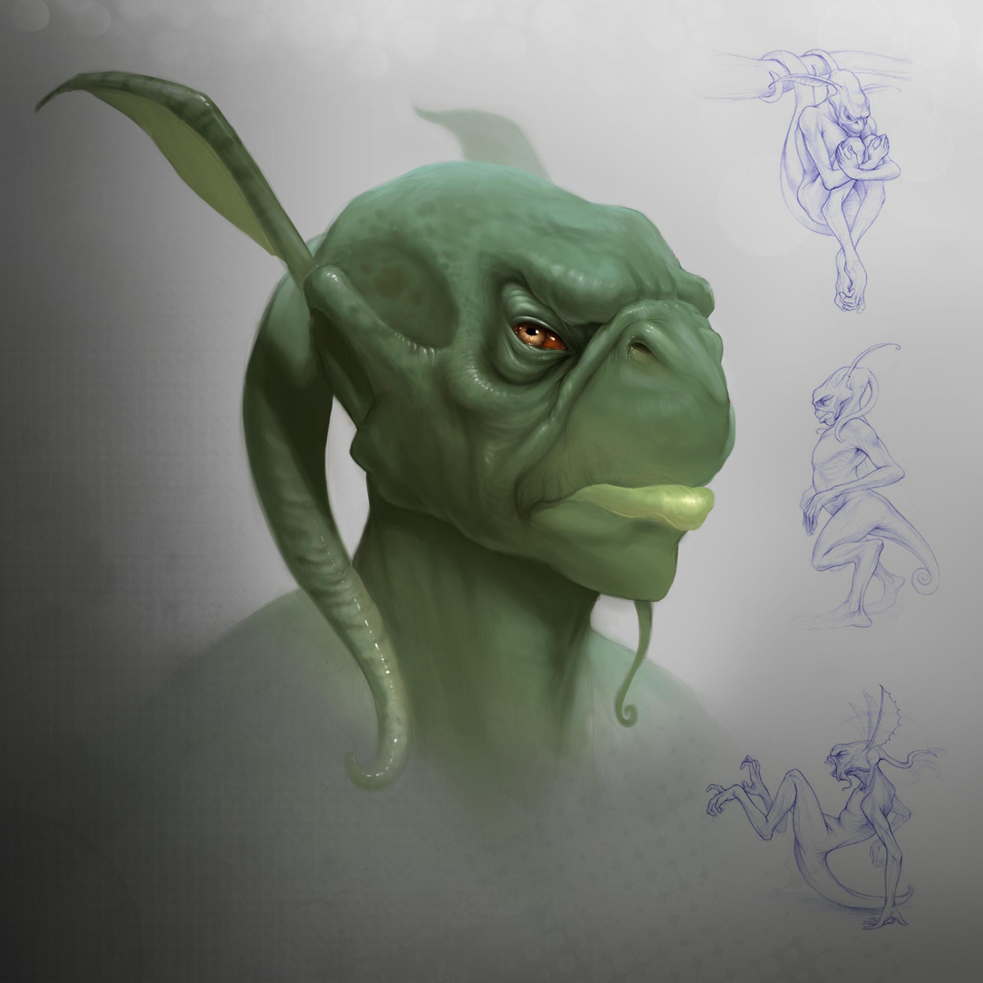 Creature Head Study