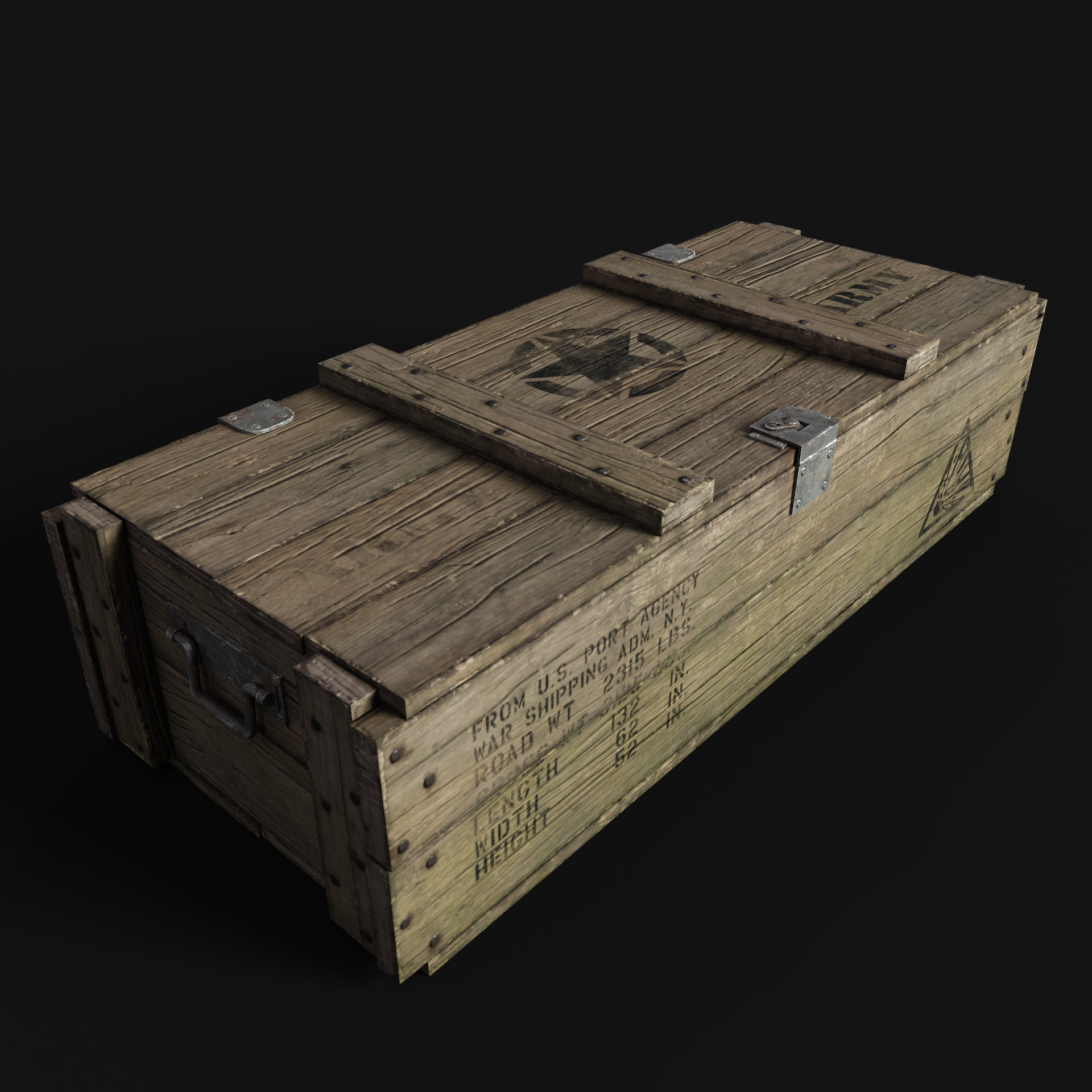 Artstation Military Wooden Crate Diego López