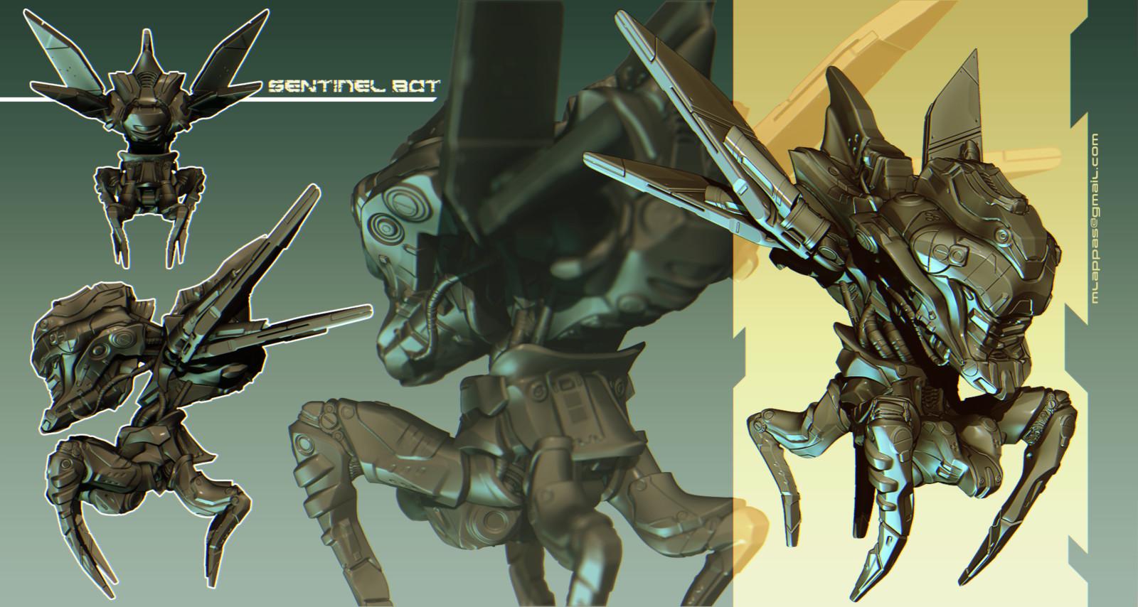 Sentinel Bot 3D concept