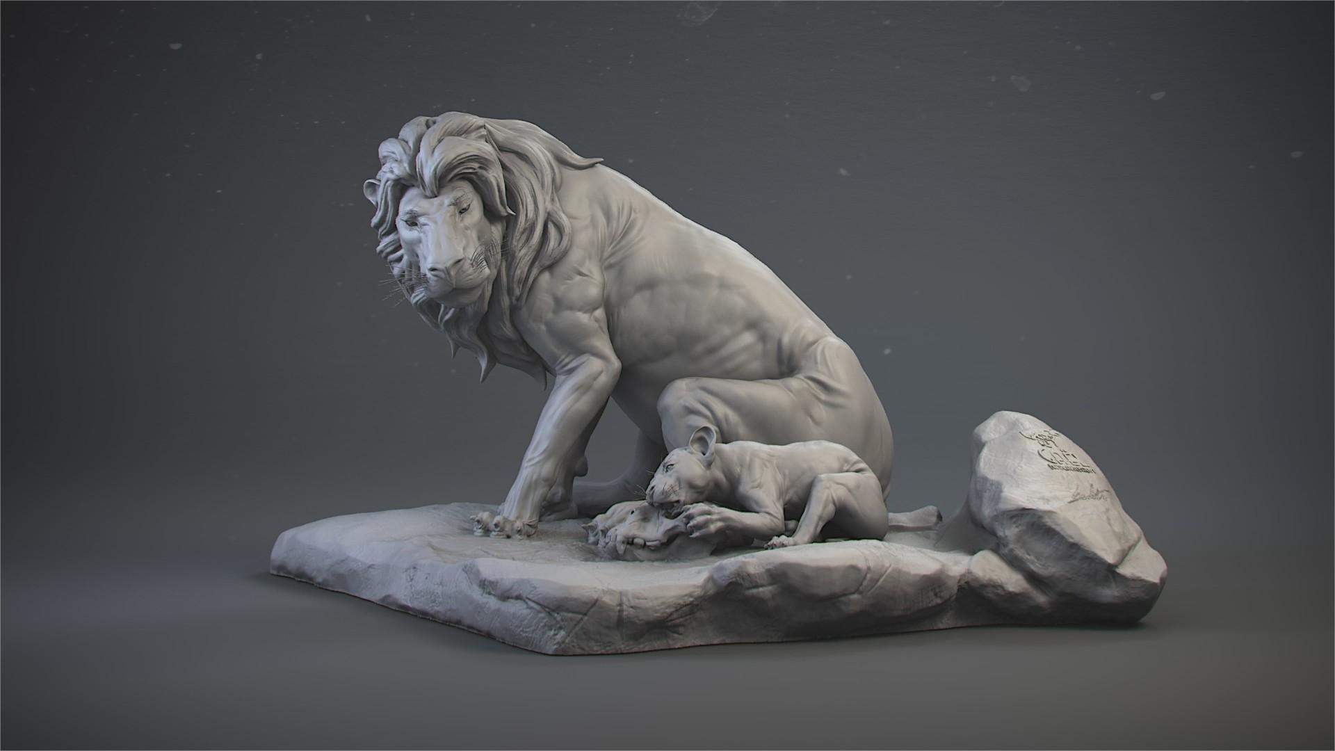 Gael kerchenbaum lion 001