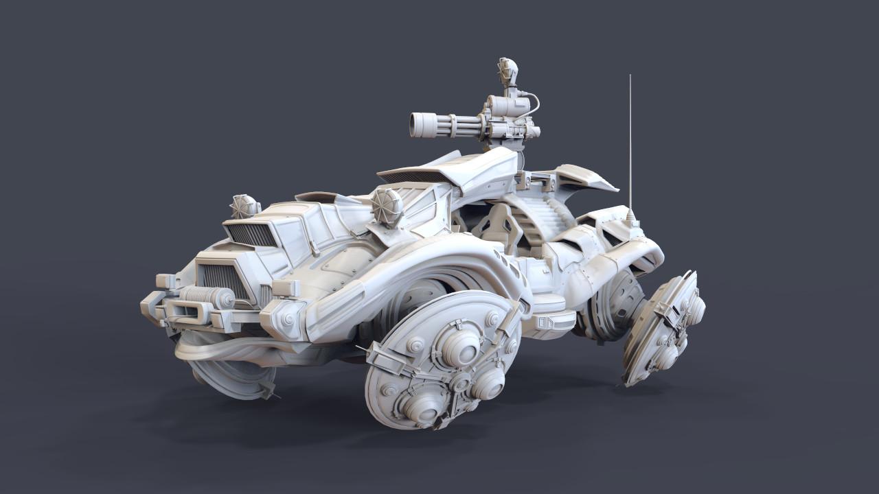 ArtStation - Anti-gravity vehicle, Ross Bury