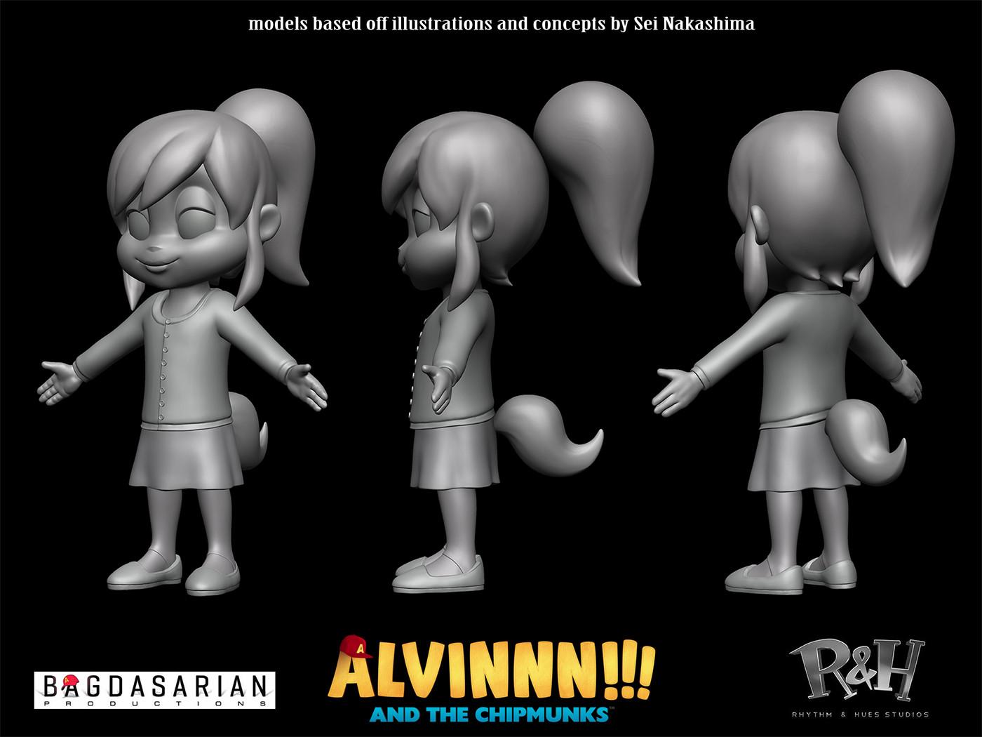 Alvin And The Chipmunks Alvin And Brittany artstation - alvinnn!!! and the chipmunks, trevor crandall
