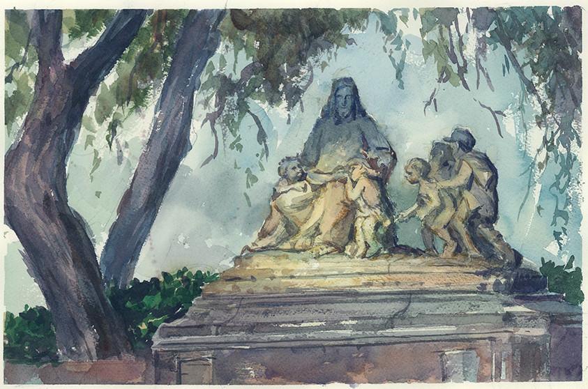 Rustam hasanov forest lawn painting1b
