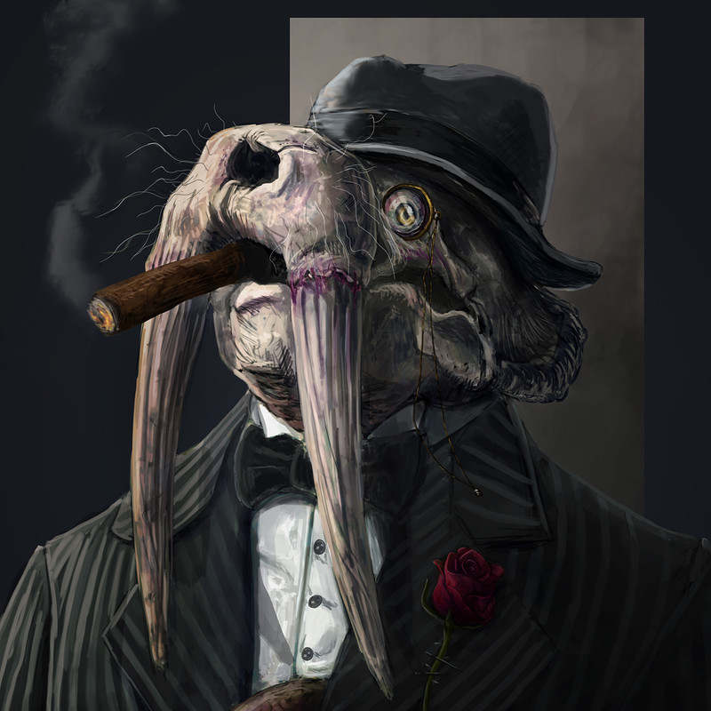 anthropomorphic noir: walrus boss