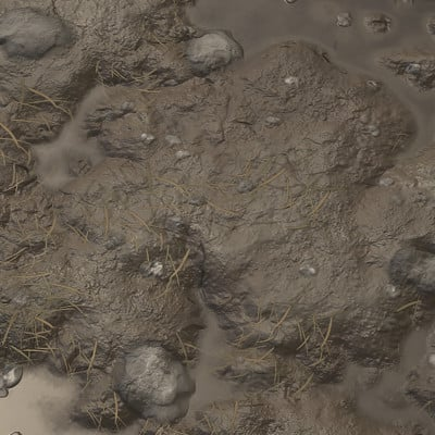 Substance Designer Practice - (WIP) Grass / Dirt / Mud Terrain