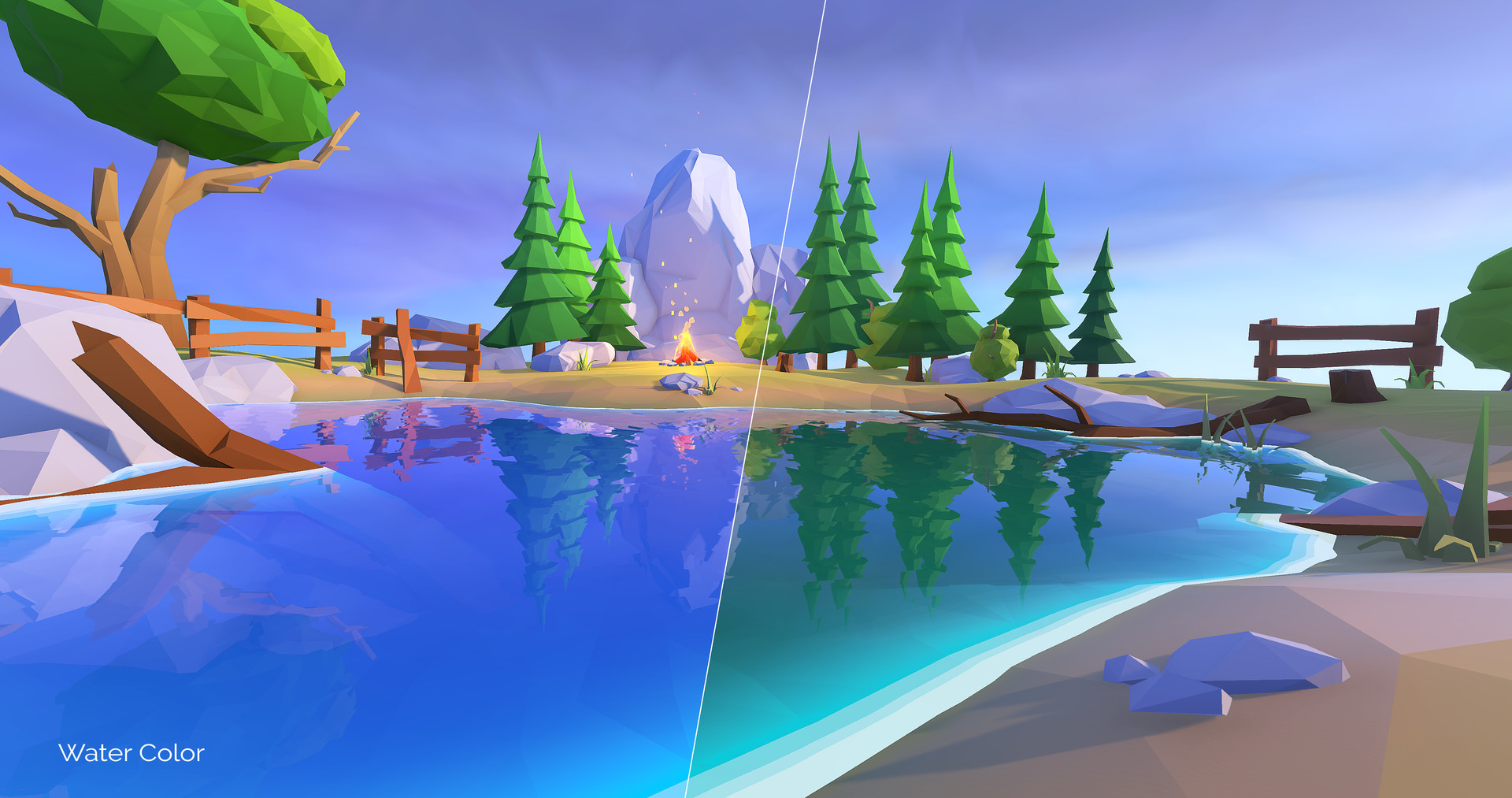 ArtStation - Lowpoly Water Shaders V2 for Unity , Cristian Pop