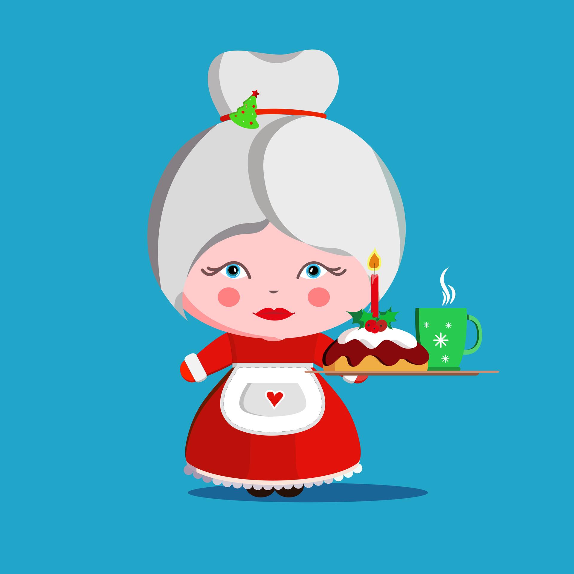 Mother Christmas Cartoon.Artstation Christmas Cartoon Characters Aliaksandra Morkhat