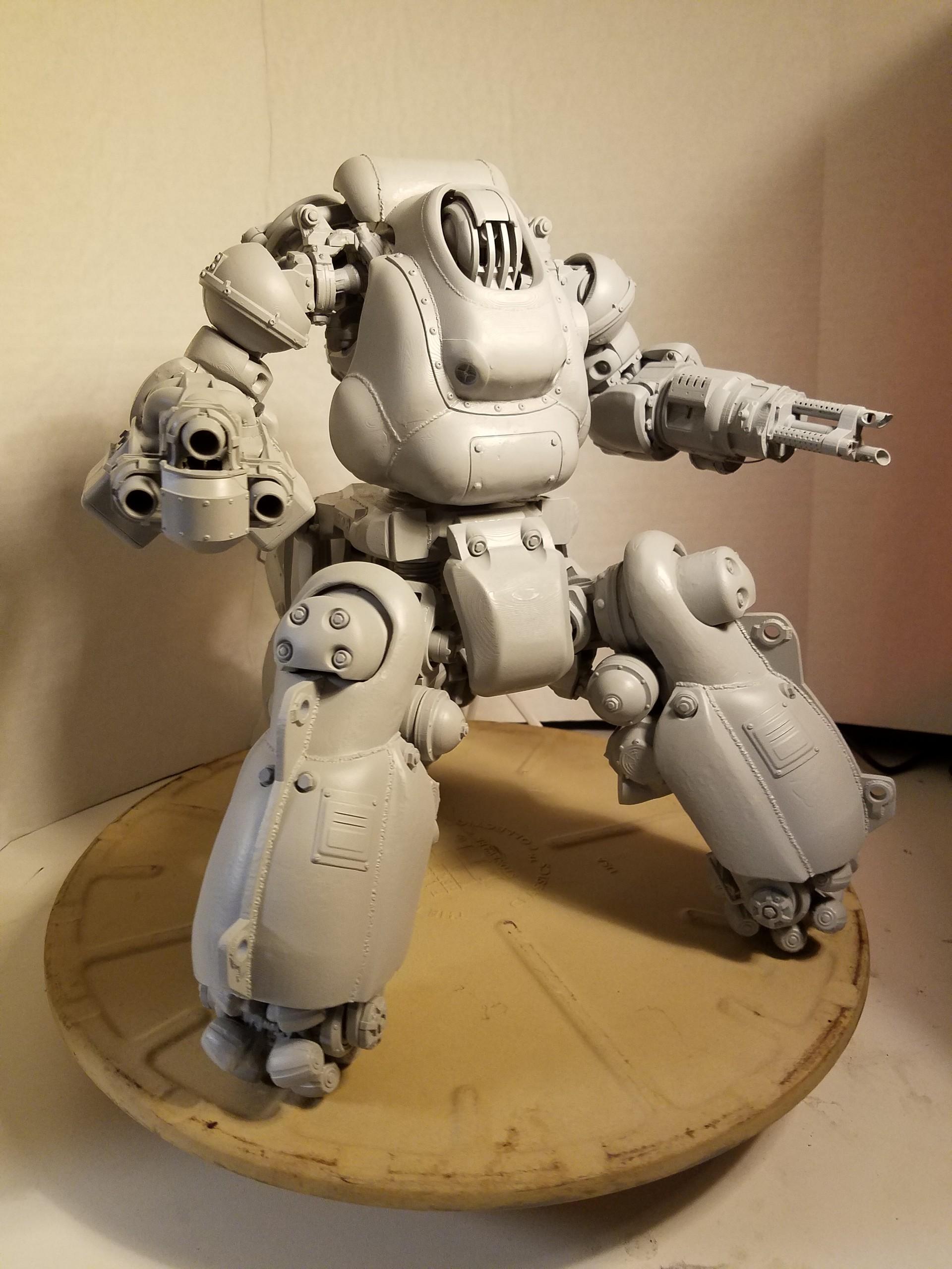 artstation fallout 4 3d printed sentry bot dennis mejillones