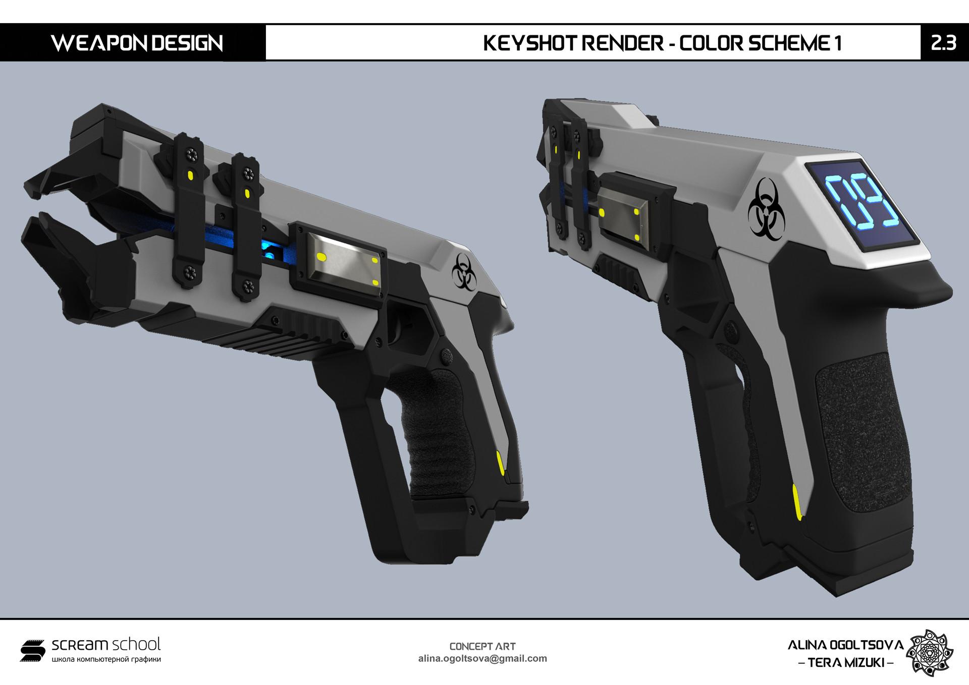 ArtStation - Weapon Design - Laser Pistol, Alina Ogoltsova