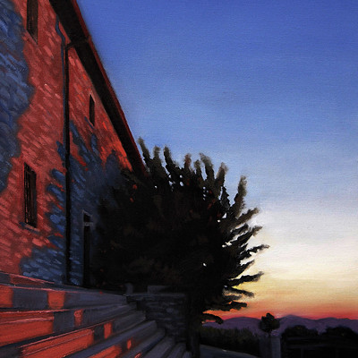 Sean hsiao sunset of corciano 16inx24in