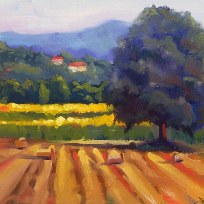 Sean hsiao roadside farm 10inx13in