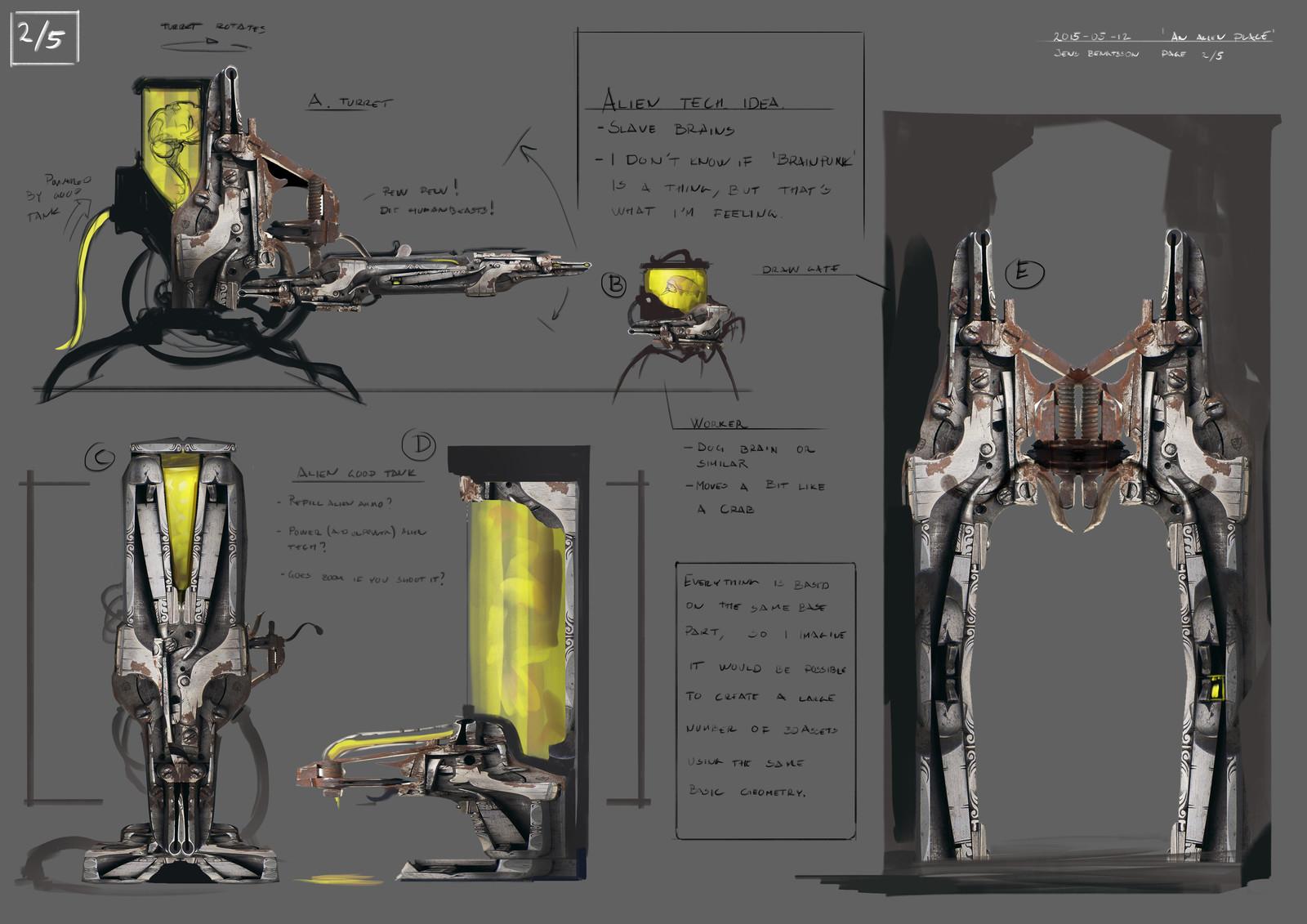 Developing the alien tech - brainpunk.