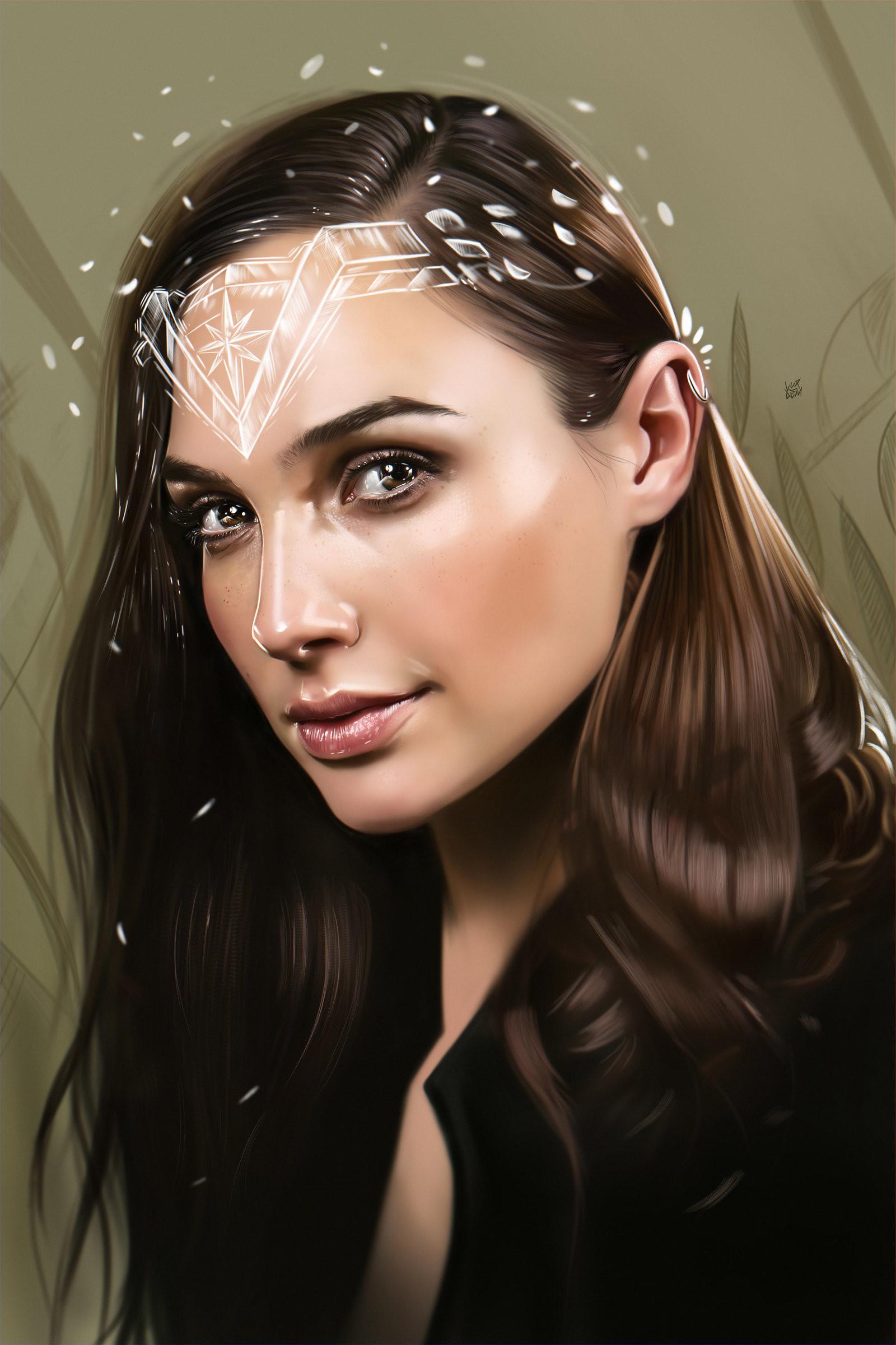 Yasar vurdem gal gadot wonder woman illustration by vurdem dbg5hfv