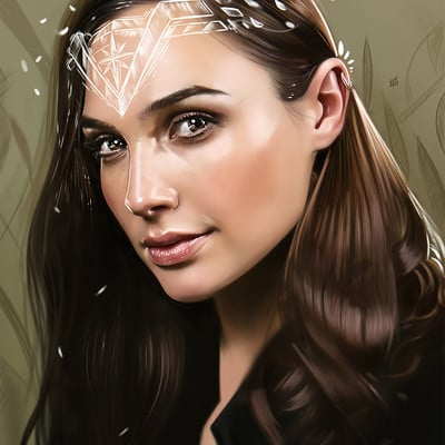Yasar vurdem gal gadot wonder woman illustration by vurdem dbg5hfv