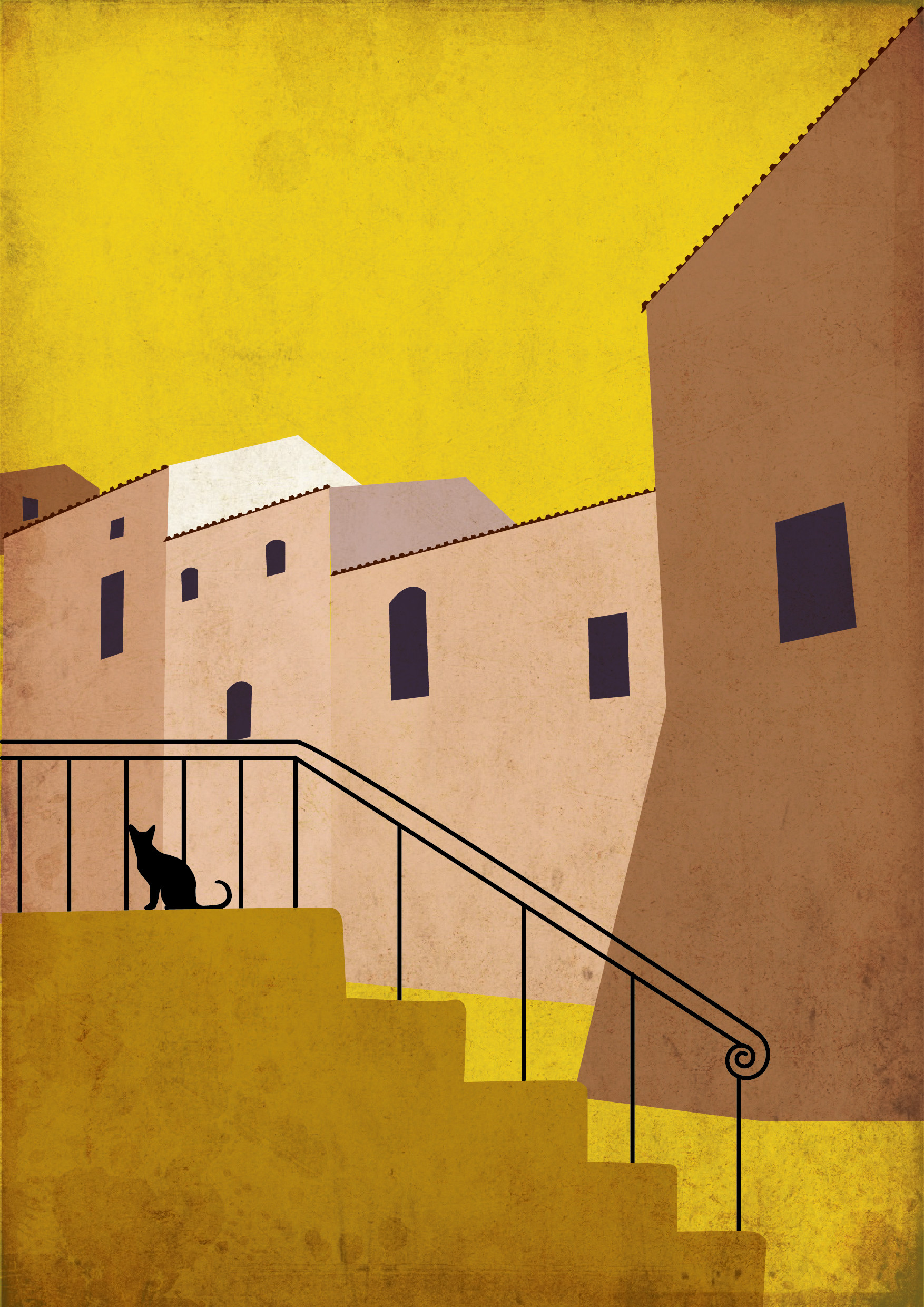 Rajesh sawant cat on stairs2 01