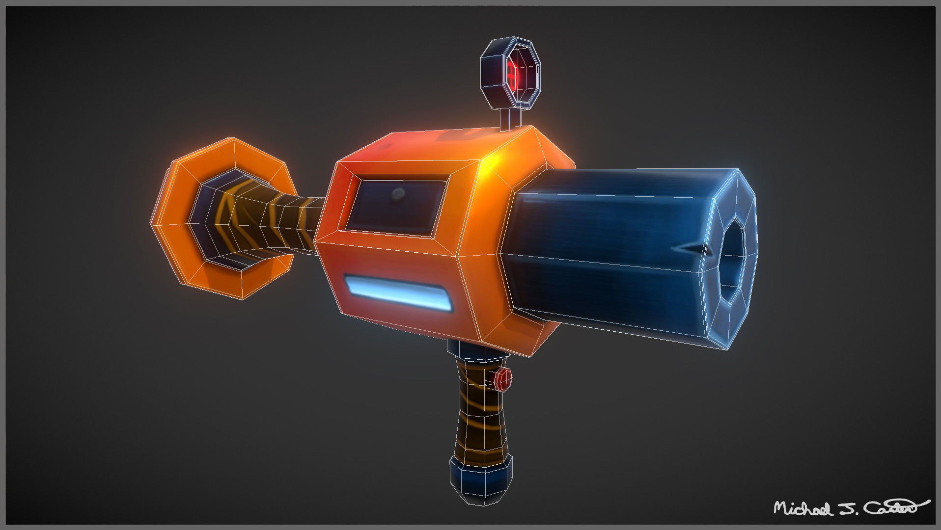 Michael jake carter mcarter stylized grenade launcher right side image