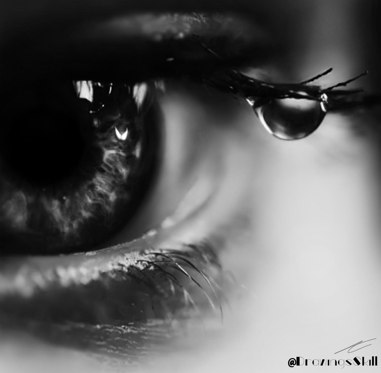 Картинка слеза и грусть печаль в твоих глазах