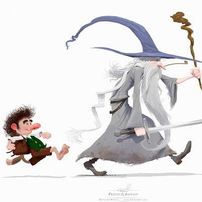 Alfonso pardo martinez gandalf y frodo pardoart