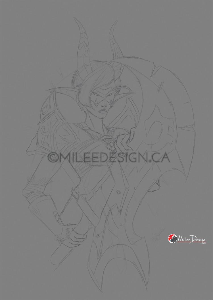 Emilie dore cyana nightglaive by milee design