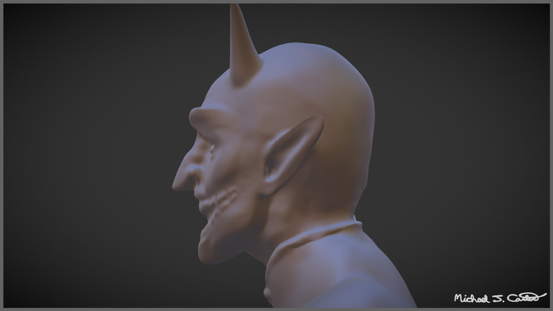 Michael jake carter mcarter demon sculpt side image