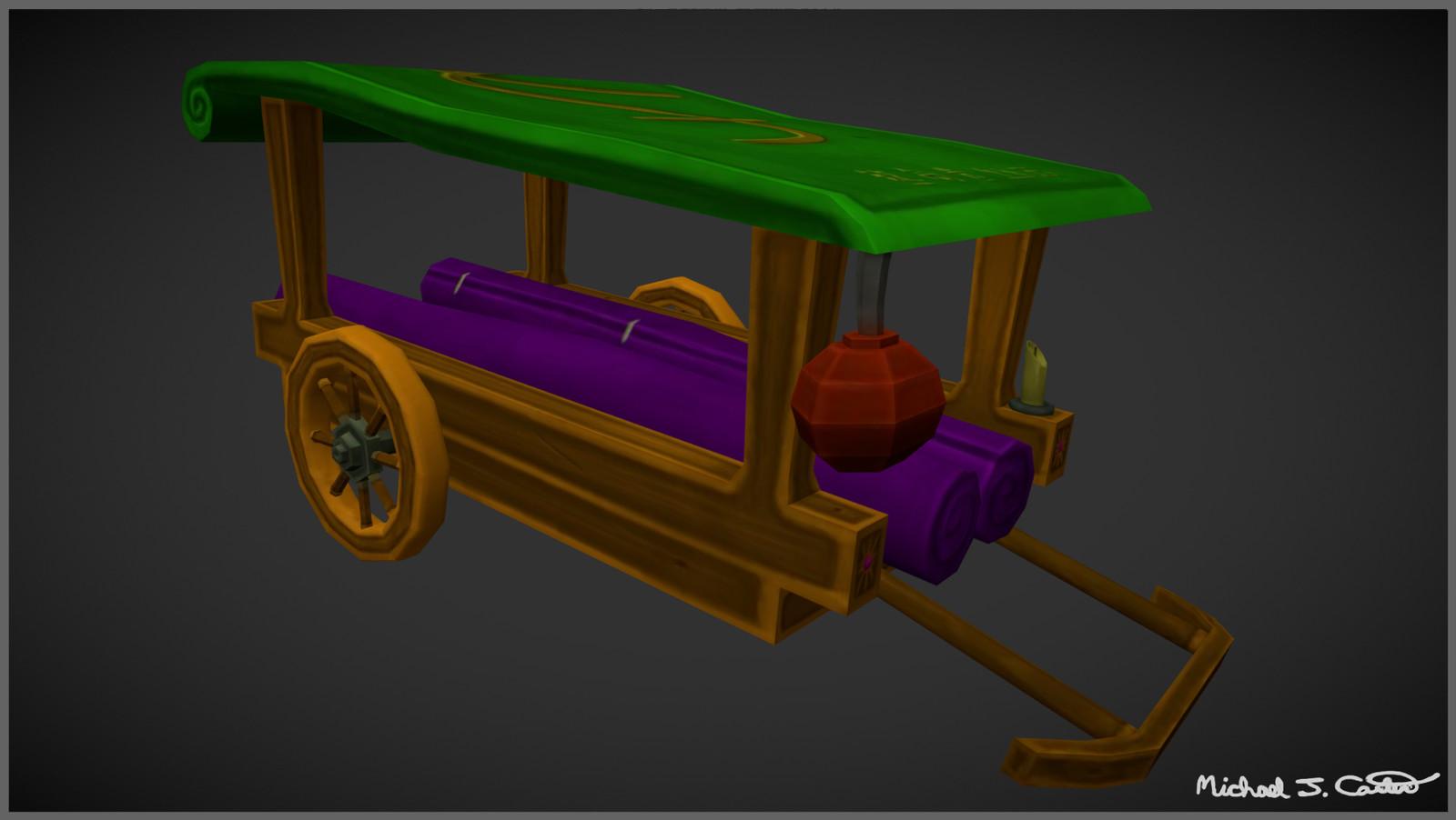 Fantasy Chinese Silk Trader Wagon