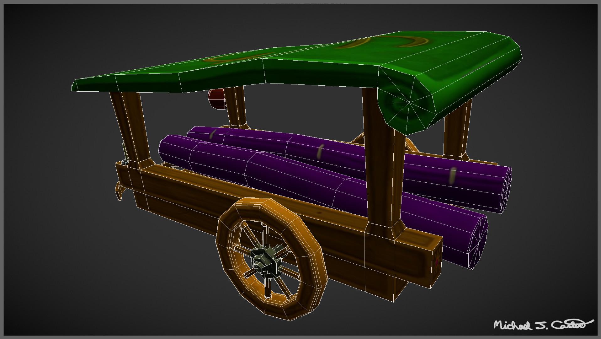 Michael jake carter mcarter fantasy chinese silk trader wagon wireframe image