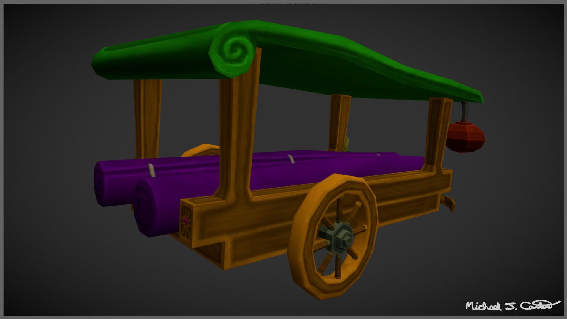 Michael jake carter mcarter fantasy chinese silk trader wagon back image