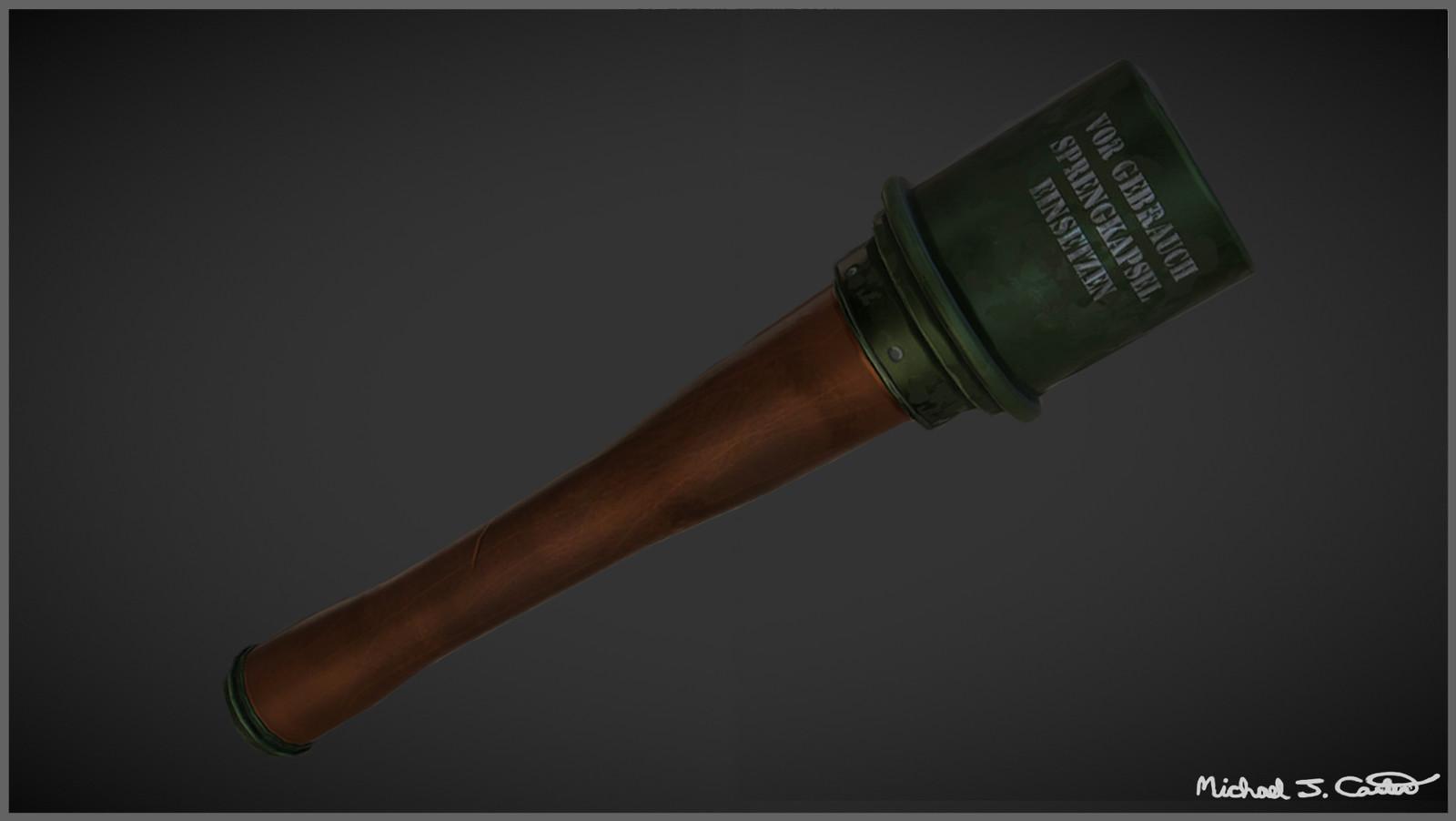 Stick Grenade Using PBR Materials