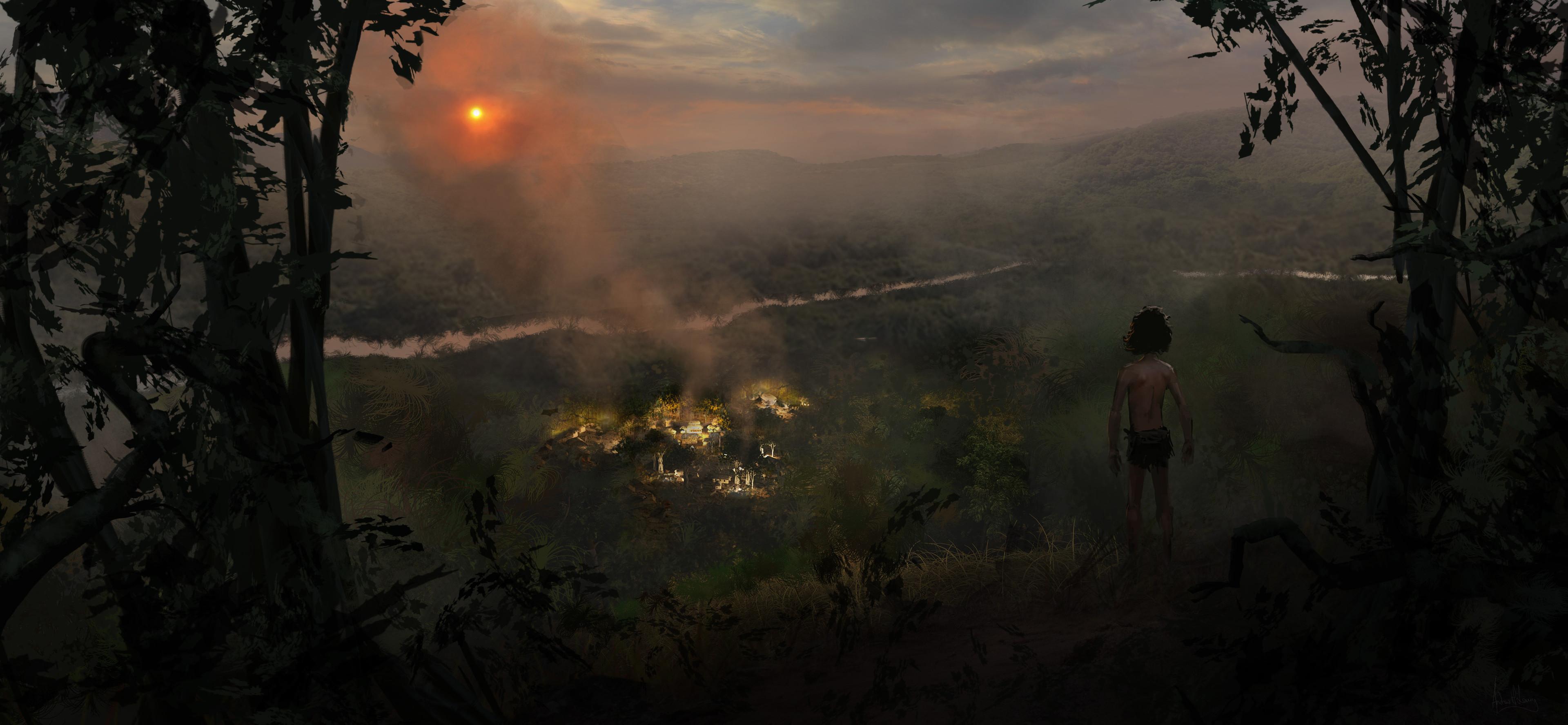 Le Livre de la Jungle [Disney - 2016] - Page 15 Andrew-leung-manvillage-layout-v06-sketch-mowgliview06